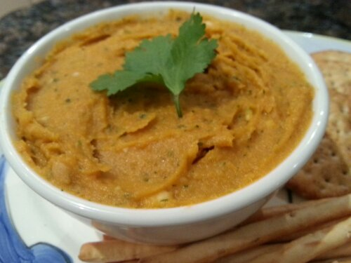 Roasted Sweet Potato Dip with Cashews and Coriander