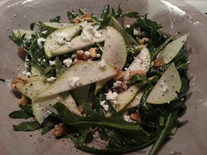 Pear, Walnut and Goats Cheese Salad