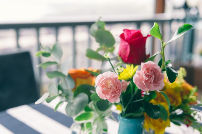 Foodie Wedding Flowers in Tin Cans