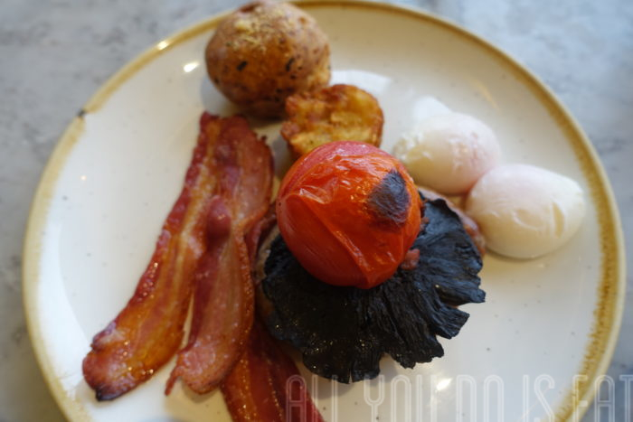 Full English Breakfast at Duck and Waffle