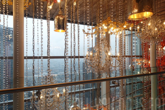 Lights at Duck and Waffle London