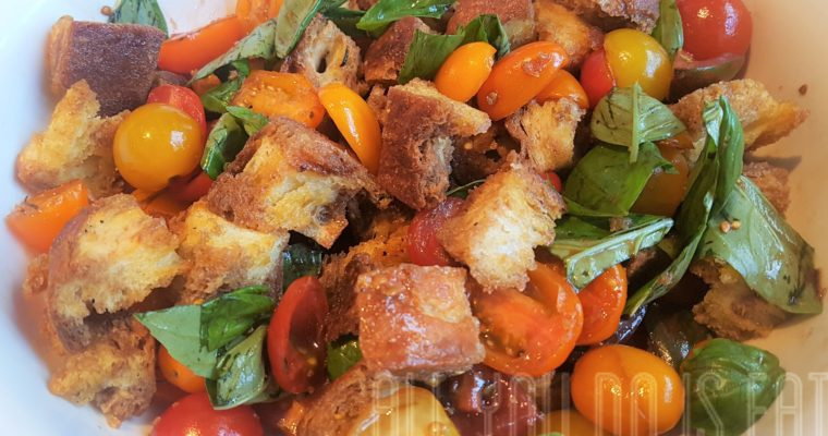 Panzanella Salad with Caramelised Red Wine Vinegar
